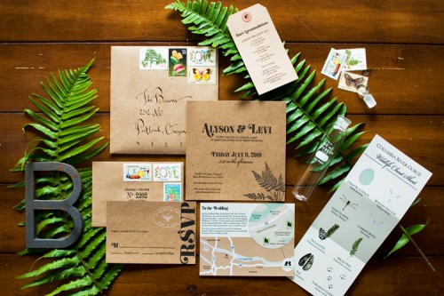 Woodland Inspired Wedding Invitations